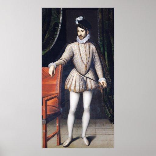 Rey de Charles IX de Francia Póster