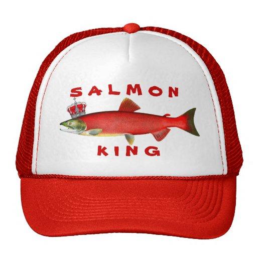 Rey de color salmón gorras