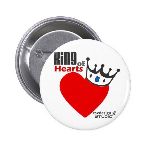Rey de corazones pin redondo 5 cm