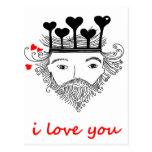 Rey de corazones postales