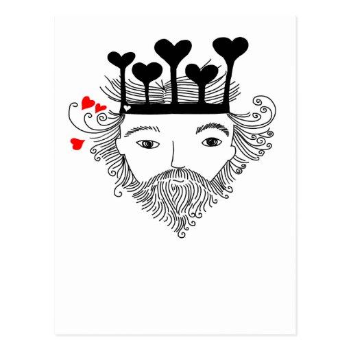 Rey de corazones tarjeta postal