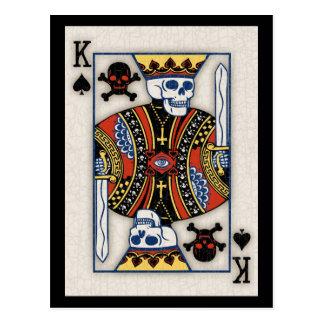 Rey de cráneos tarjetas postales