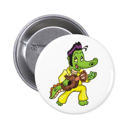Rey de encargo Button del cocodrilo Pins