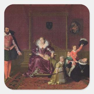 Rey de Enrique IV de jugar de Francia y de Navarra Pegatina Cuadrada