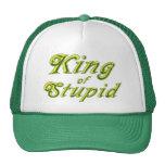 Rey de estúpido gorros bordados