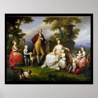 Rey de Fernando IV de Nápoles, y su familia Poster