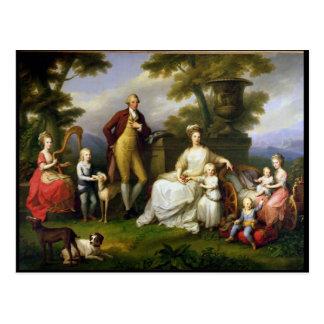 Rey de Fernando IV de Nápoles, y su familia Tarjeta Postal