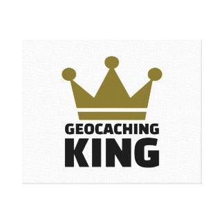 Rey de Geocaching Impresiones En Lienzo Estiradas