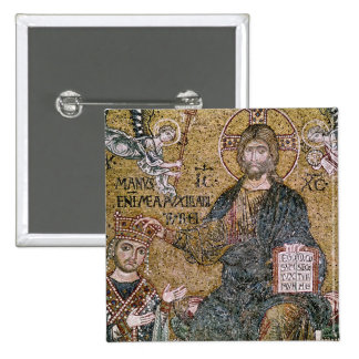 Rey de Guillermo II de Sicilia Pin Cuadrada 5 Cm