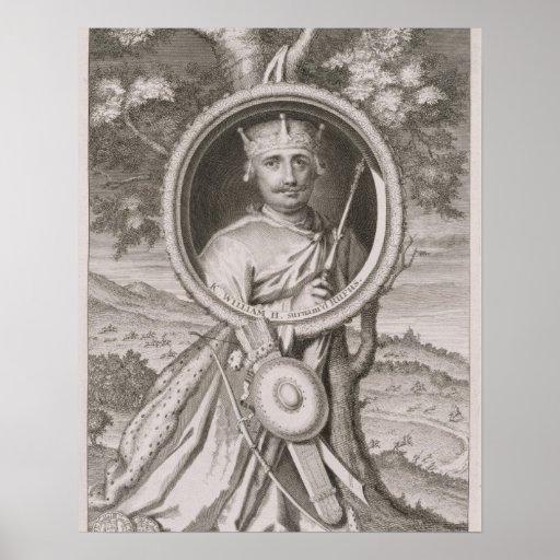 """Rey de Guillermo II """"Rufus"""" (c.1056-1100) de Ingla Póster"""