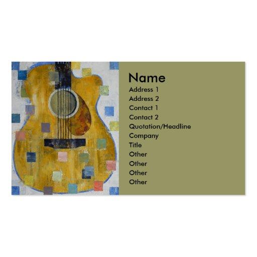 Rey de guitarras tarjeta personal
