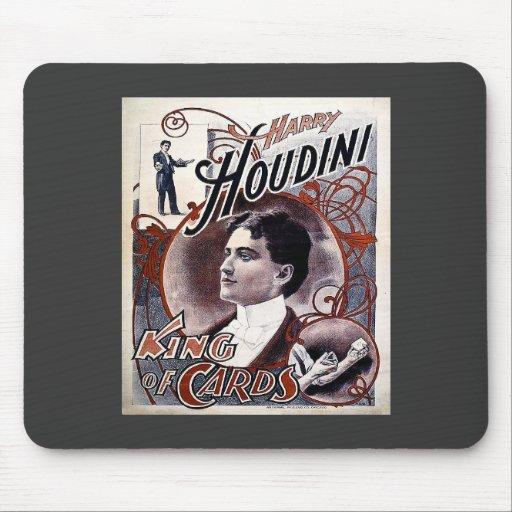 Rey de Harry Houdini del vintage del anuncio de la Tapetes De Ratón