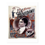 Rey de Harry Houdini del vintage del anuncio de la Postales
