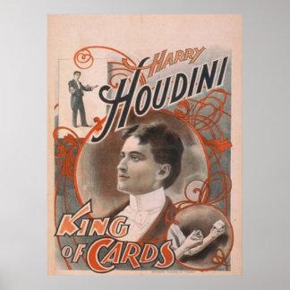 Rey de Houdini del poster de las tarjetas