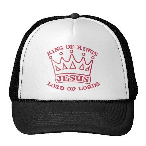 Rey de JESÚS de la pendiente de los salmones de re Gorros