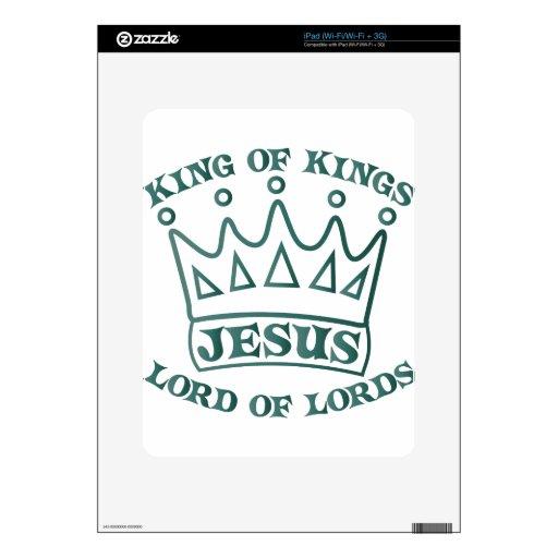 Rey de JESÚS de la pendiente del trullo de los rey Skins Para eliPad