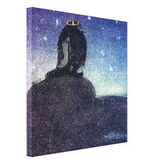 Rey de Juan Bauer de la montaña del duende en azul Lona Estirada Galerías