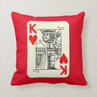 Rey de la almohada del acento de los corazones cojín decorativo