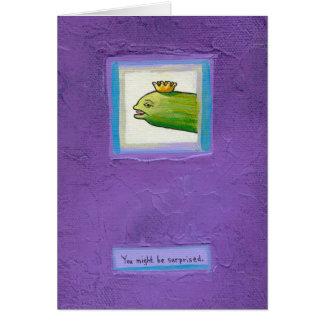 ¿Rey de la anguila de la salmuera del poeta? arte Tarjeta De Felicitación