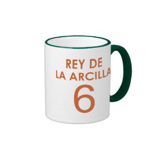 REY DE LA ARCILLA 6 RINGER COFFEE MUG