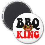 Rey de la barbacoa imán de frigorifico