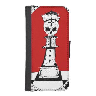 Rey de la caja/de la cartera del cuero del iPhone Billetera Para Teléfono