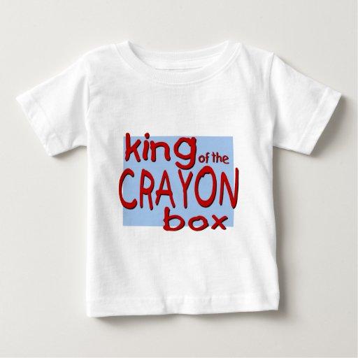 Rey de la caja del creyón playeras