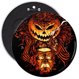 Rey de la calabaza de Halloween Pin Redondo De 6 Pulgadas