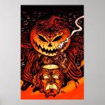 Rey de la calabaza de Halloween Póster