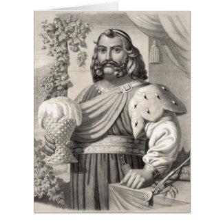 Rey de la cerveza 1858 tarjetón