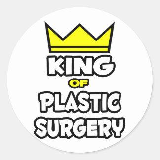 Rey de la cirugía plástica pegatinas redondas