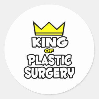 Rey de la cirugía plástica etiqueta redonda