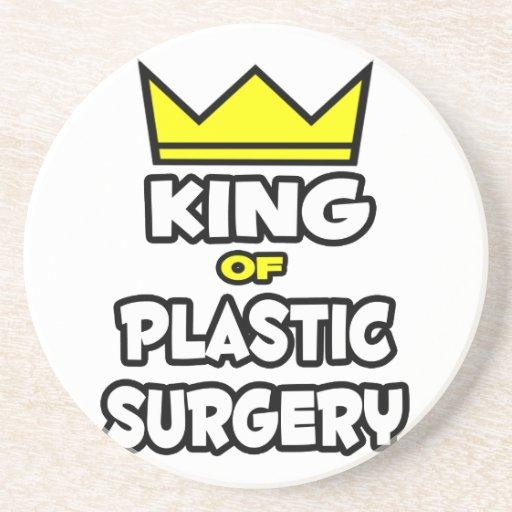 Rey de la cirugía plástica posavasos para bebidas