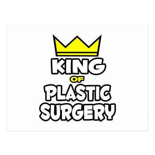 Rey de la cirugía plástica tarjeta postal