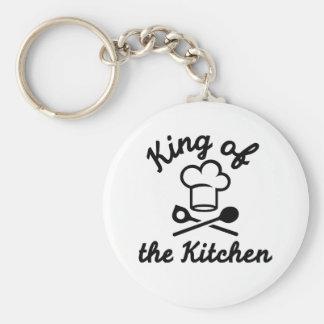 Rey de la cocina llavero redondo tipo pin