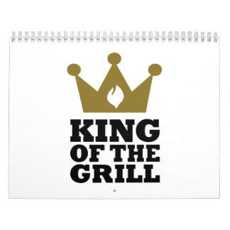 Rey de la corona de la parrilla calendarios de pared