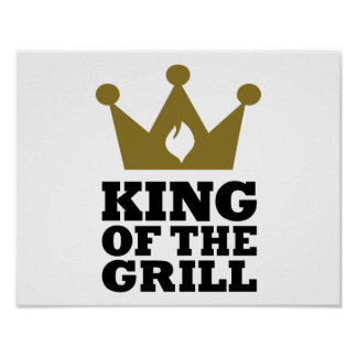 Rey de la corona de la parrilla póster