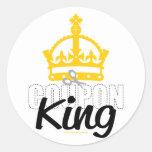 Rey de la cupón pegatinas redondas