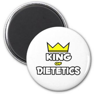 Rey de la dietética imán redondo 5 cm