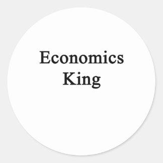 Rey de la economía pegatina redonda