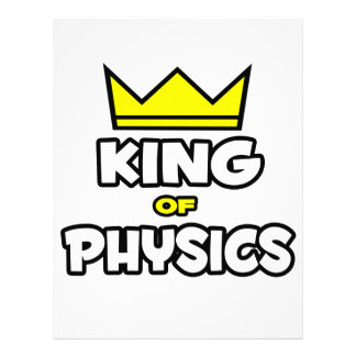 Rey de la física membrete a diseño