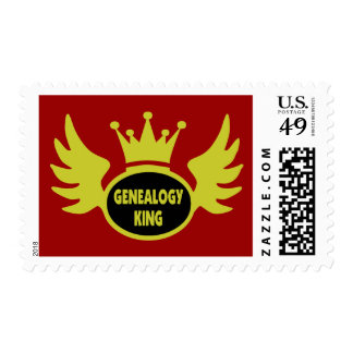 Rey de la genealogía estampilla