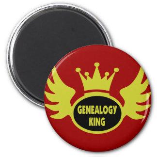 Rey de la genealogía imán redondo 5 cm