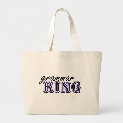 Rey de la gramática bolsa de mano