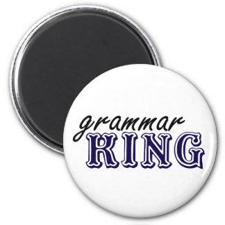 Rey de la gramática imán redondo 5 cm