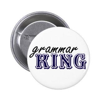 Rey de la gramática pin redondo de 2 pulgadas