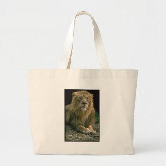Rey de la imagen del león de la selva en artículos bolsa