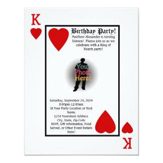 Rey de la invitación de la fiesta de cumpleaños de invitación 10,8 x 13,9 cm
