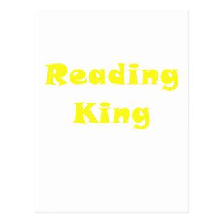 Rey de la lectura tarjeta postal