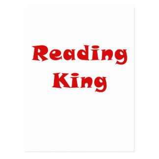 Rey de la lectura tarjetas postales